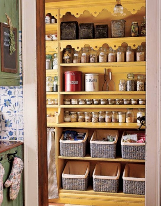 pantry-closet-amazing-closet-to-pantry-conversion-with-large-wicker-storage-baskets-and-antique-glass-kitchen-lighting-fixtures-545x696