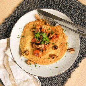 Chickpea Omelette recipe