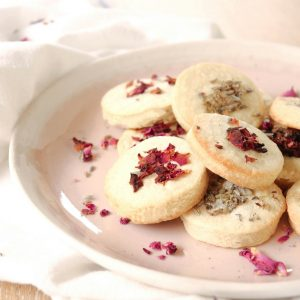 Shortbread Biscuits with flowers